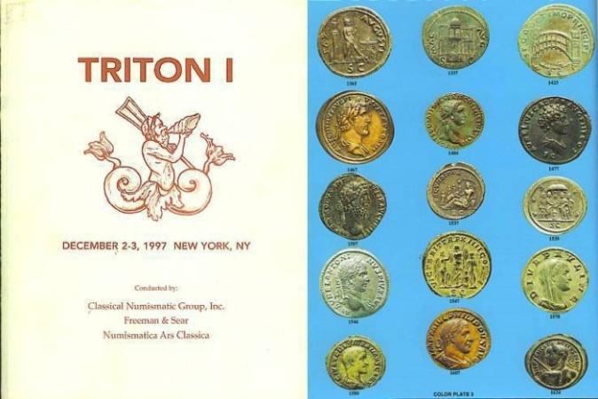 Ancient Coins - Triton I Auction Catalogue CNG FReeman & Sear, NAC - Goodman collection of Roman Republican coins, part II - Struck Bronzes
