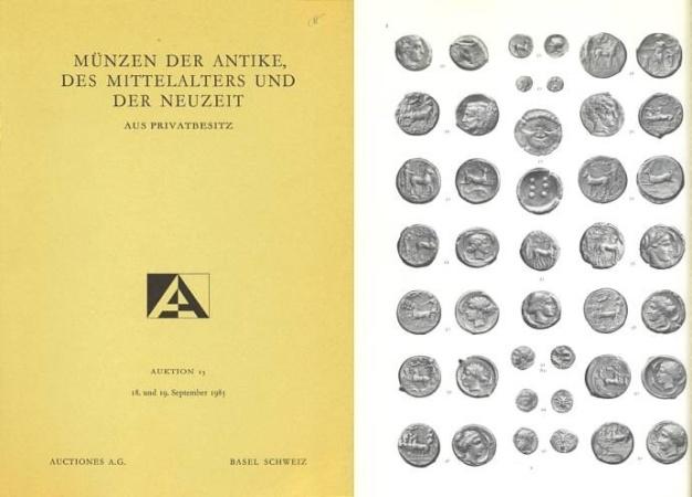 Ancient Coins - Auction Catalogue of Auctiones A.G. (an affiliate of Munzen und Medallien), Sale #15, September 18-19, 1985 - Greek, Roman, Roman Provincial Coins