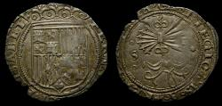 Ancient Coins - SPAIN, Castile & León, Fernando V & Isabel I (Los Reyes Católicos - the Catholic Monarchs), 1474-1504. AR Real (24 mm, 3.41 g), Seville mint EF