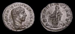 Ancient Coins - Elagabalus, AD 218-222, AR Denarius (19 mm, 2.78 g, 7h), Rome Struck 220-222 Good VF