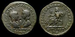 Ancient Coins - MOESIA INFERIOR, Marcianopolis, Gordian III and Tranquillina 238-244 AD Æ Pentassarion (26 mm, 14.92g, 6h) VF Zeus