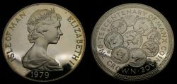 World Coins - 1979 Isle of Man Silver Crown .925 .841 Oz. 300 Years of Coinage KM #45 Proof