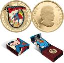 World Coins - Canada - 2013 Superman Colorized $75 Proof 14K Gold Coin - Rare Sold Out at the MINT RCM - Very Low Mintage 2000 pieces only