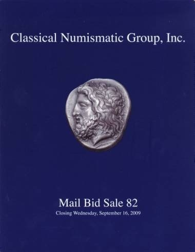 Ancient Coins - Classical Numismatic Group 82 - CNG - September 16, 2009 - Auction Catalogue
