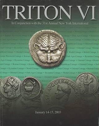 Ancient Coins - CNG Triton VI, January 14-15, 2003 - Auction Catalogue