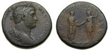 Hadrian, A.D. 117-138, Æ Sestertius (30 mm, 25.31 gm., 11h), Rome mint, Struck A.D. 134-138 aVF ADVENTVS aVF