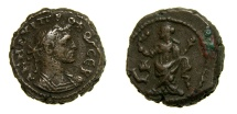 Ancient Coins - EGYPT, Alexandria. Probus, 276-282 A.D. BI Tetradrachm (18 mm, 8.13 gm., 12h), Dated RY 4 (278/9 A.D.) aVF