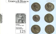 Ancient Coins - Gorny & Mosch Giessner Munzhandlung - Auction 125 - October 13, 2003 - Ancient Coins