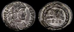 Ancient Coins - Constantius II, A.D. 337-361, AR Siliqua (17 mm, 1.82 gm., 6h). Lugdunum (Lyon) mint, Struck AD 360-361 EF
