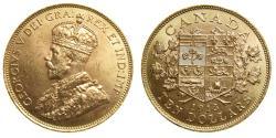 Ancient Coins - CANADA King George V Gold $10 Ten Dollars 1913 Ottawa Mint Choice UNC 0.4838 oz AGW