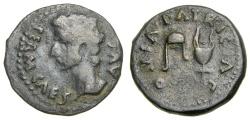 Ancient Coins - SPAIN, Corduba, Augustus, 27 B.C.-A.D. 14, Æ Semis (22 mm, 4.95 gm., 5h) aVF