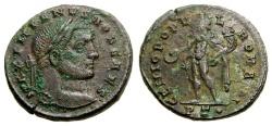 Ancient Coins - Galerius, As Caesar, A.D. 293-305, Æ Follis (28 mm, 8.04 gm., 6h), Ticinum (Pavia), 1st officina, Struck A.D. 295-299 gVF/VF
