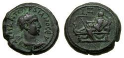 Ancient Coins - EGYPT, Alexandria, Gordian III, A.D. 238-244. Potin Tetradrachm (23 mm, 13.11 g, 12h). Dated RY 7 (AD 243/244) Good VF