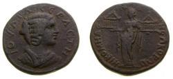 Ancient Coins - Bithynia, Nicomedia, Julia Domna, wife of Septimius Severus, Augusta, 193-217 AD, Æ 30 mm (14.53 g, 1h) Good VF Rare Temples