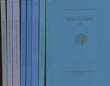 Ancient Coins - Good Run of 8 Various Issues of Museum Notes of American Numismatic Society 14, 16, 17, 25, 28, 30, 31, & 33