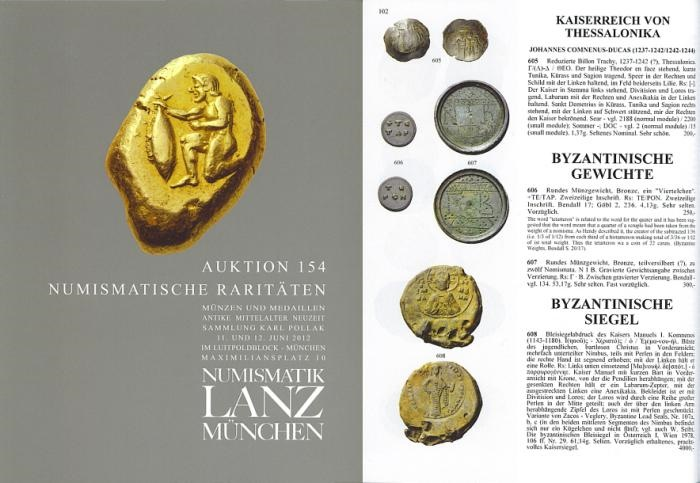 Ancient Coins - Lanz Auction 154 - Numismatische Raritaten - June 11-12, 2012 - Numismatic Rarities - Ancient, Medieval and Modern Coins - Karl Pollak Collection of Habsburg Coinage