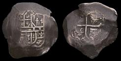 World Coins - Spanish Colonial Mexico City Philip IV 1621-65 Silver Cob 8 Reales (24.42) KM#45 VF 6369