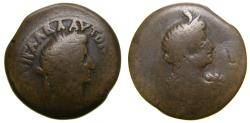 Ancient Coins - Roman EGYPT, Alexandria, Galba, AD 68-69, Æ Diobol (28 mm, 13.48 g, 12h), Dated RY 2 (AD 68/69) Fine Rare