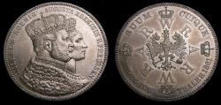 Ancient Coins - Germany 1861A Prussia Thaler .900 .5359 Oz. Coronation of Wilhelm & Augusta KM#488 UNC