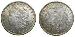 Us Coins - United States Moragan Silver Dollar 1888 AU+ Die Clash VAM Variety Lips
