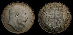 World Coins - Great Britain 1902 Half Crown S-3980 UNC