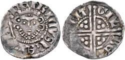 World Coins - PLANTAGENET, Henry III, 1216-1272, AR Penny (18mm, 1.43 g, 8h), Long cross type, class Vf, London mint; Gilbert of Bonnington, moneyer. Struck circa 1256-1258 aVF