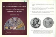 World Coins - Stack's - October 18, 1988 - The Gilbert Steinberg Collection of United States Paper Money, Indian Peace Medals - Rare Type Set of Unitated States Banknotes