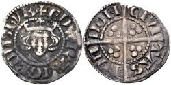 World Coins - PLANTAGENET, Edward I, 1272-1307, AR Penny (18mm, 1.38 g, 2h), New coinage, class 3c. London mint. Struck 1280-1281 Fine+ Ex CNG