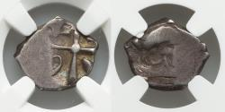 Ancient Coins - Celtic GAUL, Region of Toulouse, Unknown tribe, Circa 2nd-1st centuries BC, AR drachm (14 mm, 3.01 g) NGC Certified VF Ex Heritage