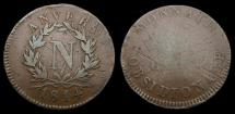World Coins - Belgium 1814 French Siege of Antwerpen Anvers By Napoleon 5 Centimes F/VF.