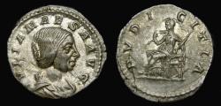 Ancient Coins - Julia Maesa, Augusta, A.D. 218-224/5, AR Denarius (19mm, 3.10 g, 1h), Rome mint, Struck under Elagabalus, A.D. 218-220 EF
