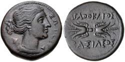 Ancient Coins - SICILY, Syracuse, Agathokles, 317-289 B.C. Æ Litra (22 mm, 8.81 gm., 8h) Good VF Ex CNG