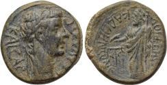 Ancient Coins - PHRYGIA, Kadi, Claudius, 41-54 AD, Demetrius Artemas, magistrate, Æ (18 mm, 3.66 g, 12h) VF Zeus