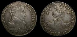 Ancient Coins - Bolivia, Republic, AR 4 soles (32 mm, 13.50 g) 1830-PTS JL Potosi Mint Toned UNC