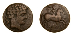 Ancient Coins - SPAIN, Sesars (Aragon region) Circa Mid-2nd Century BC, Æ As (24mm, 8.23 g, 11h) Very Fine, Very Rare