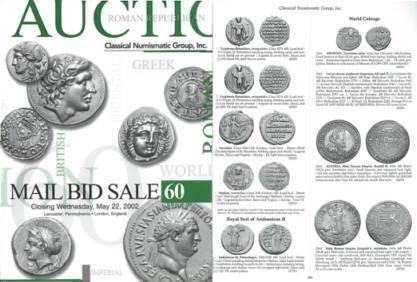 Ancient Coins - Classical Numismatic Group CNG 60 - May 22, 2002 - Auction Catalogue - Anglo-Saxon - Jewish Bar Kochba - Syrian Tetradrahms
