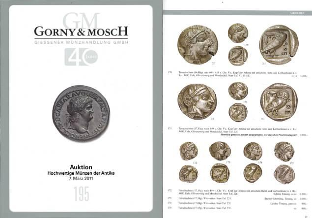 Ancient Coins - Gorny & Mosch Giessner Munzhandlung - Auction 195 - March 7, 2011 - Ancient Coins