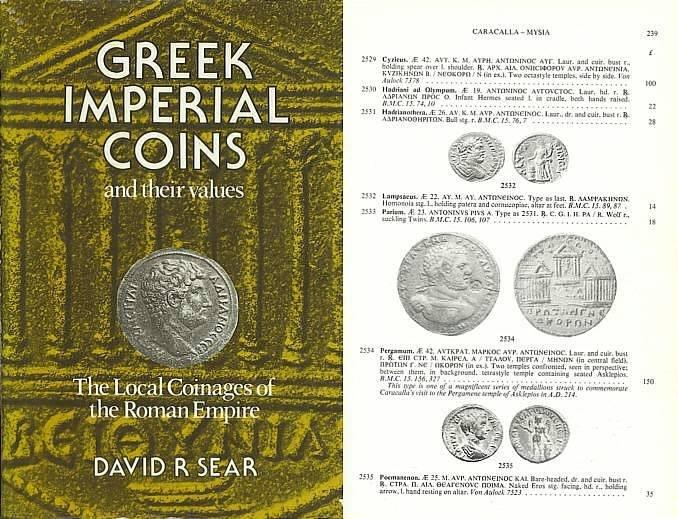 Greek Imperial Coins and Their Values - The Local Coinages of the Roman  Empire by David R  Sear - Roman Provincial Coins
