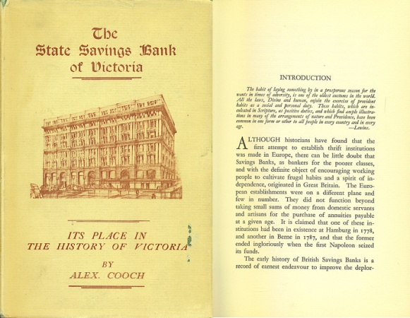 World Coins - The State Savings Bank Of Victoria Its Place in the History of Victoria by Alex Cooch with a Foreword by W. Warren Kerr