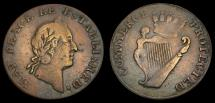 Ancient Coins - Ireland Farthing Token N.D Obverse: May Peace Be Established Rev: Commerce Protected Atkins 413var 6281