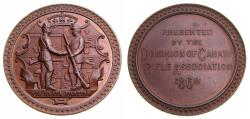 Ancient Coins - Dominion of Canada 1868 Rifle Association Copper Medal (44 mm, 42.16 g, 12h) UNC