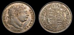 World Coins - Great Britain 1819 Six Pence Small 8 in Date S-3791 Toned UNC Rare This Nice