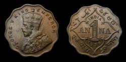 World Coins - 1936 British India Anna Bombay KM# 513 BU+