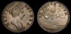 Ancient Coins - Great Britain c. 1689 Mary II Silver Medallic Token Ex Nocte Diem Eimer 321 Good VF Rare