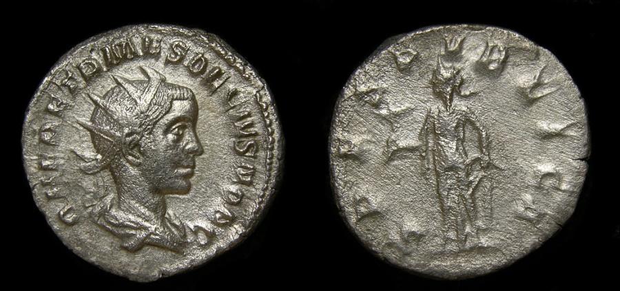 Ancient Coins - Herennius Etruscus As Caesar, A.D. 249-251, AR Antoninianus (22 mm, 3.81 gm., 7h), Rome mint, AD 250 VF