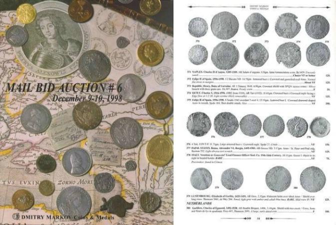 Ancient Coins - Dmitry Markov - Mail Bid Auction #6 - December 9-10, 1998 - Pre-Islamic, Islamic, Russian Coins