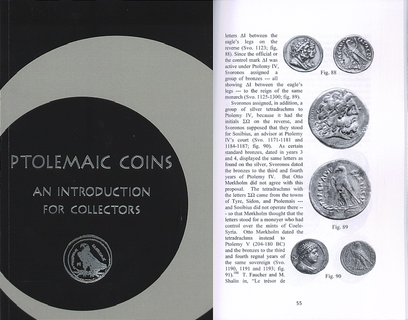 Ancient Coins - Ptolemaic Coins: An Introduction for Collectors By Richard A. Hazzard - Second 2015 Revised Edition - Just Published
