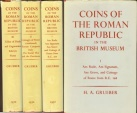 Coins of the Roman Republic in the British Museum by H.A Grueber, 3 Volumes Reprint