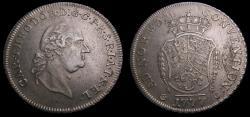 Ancient Coins - German States Pfalz-Electoral AR Thaler 1777 As Karl Theodor Dav. 2544 Scarce KM#446 EF 6342