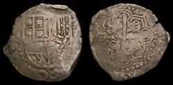World Coins - Spanish Colonial Potosi Bolivia Philip IV 1621-65 Silver Cob 8 Reales (26.40 gm) KM#19 Good VF++ 6367